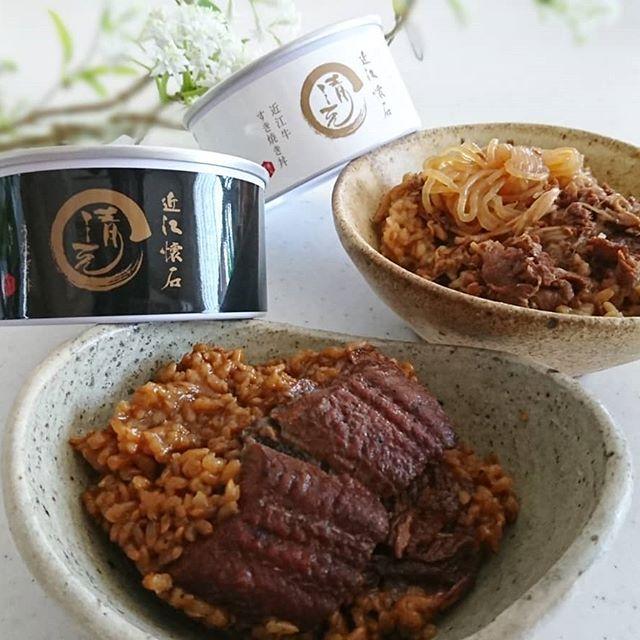 …@coetas.jp 様から近江懐石 清元 近江牛すき焼き丼・うなぎ丼の缶詰めをモニ…
