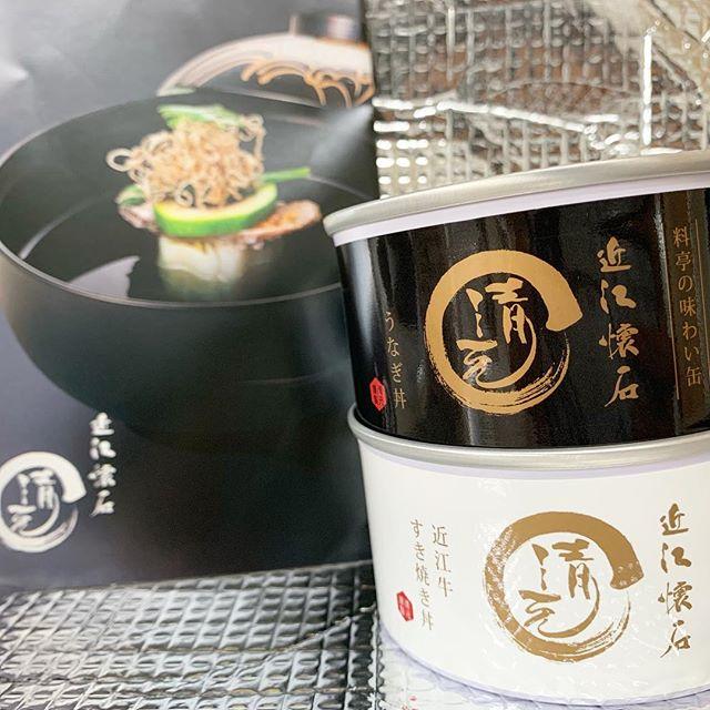 近江懐石 清元さんの近江牛すき焼き丼とうなぎ丼缶詰を頂きました❤️缶詰というと…