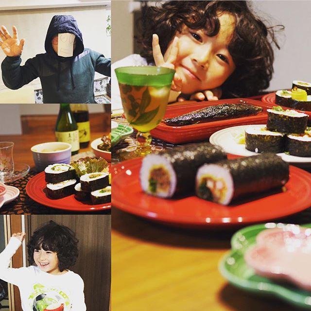 今日はお茶のお稽古に行っていたので巻き寿司は作りません😋予約しときました💓