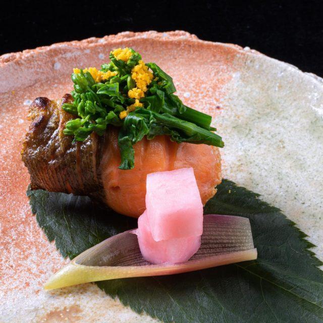 琵琶鱒菜の花焼本日の焼物