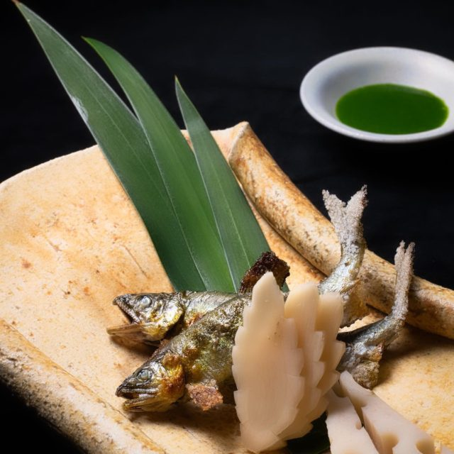 若鮎菖蒲焼