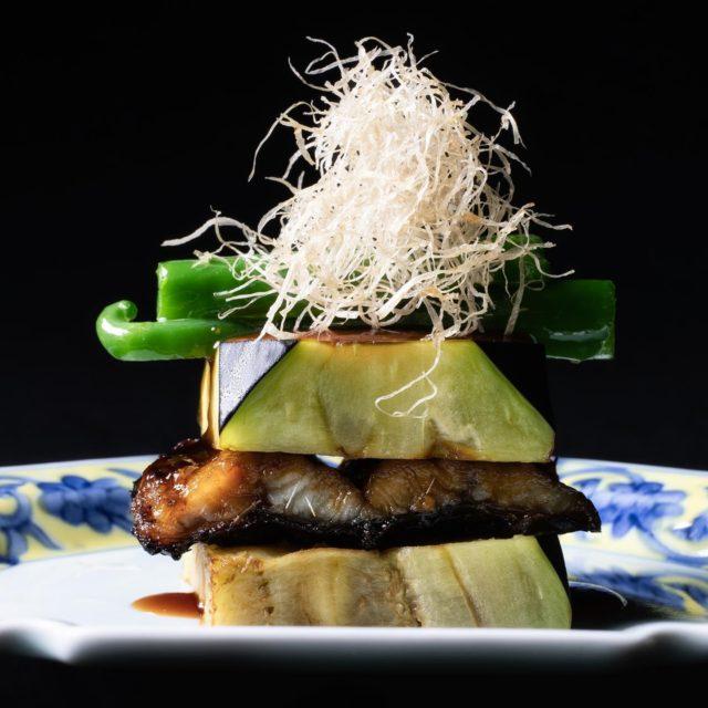 賀茂茄子、鰻挟み焼き針牛蒡 万願寺唐辛子