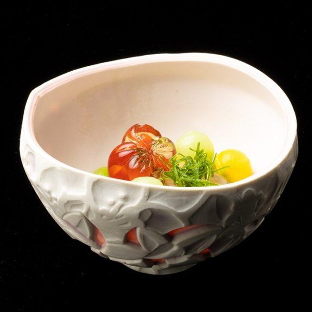 冷やし鉢 丸向き冬瓜 南瓜 瓜 人参マイクロトマト煮凝 すっぽん煮凝器 高…